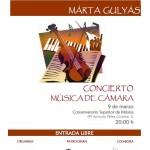Concierto de música de cámara. Marta Gulyás