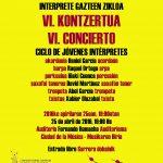 VI concierto del Ciclo de conciertos de Jóvenes Intérpretes del CSMN