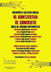 cartel VI concierto