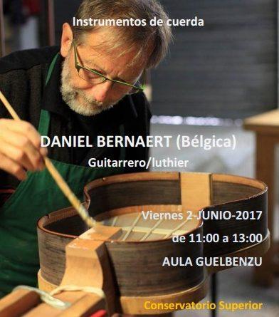 Charla-Taller de luthería. Daniel Bernaert