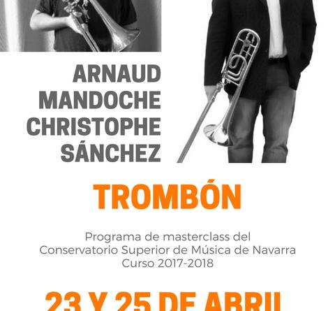 Masterclass de trombón. Christophe Sánchez y Arnaud Mandoche